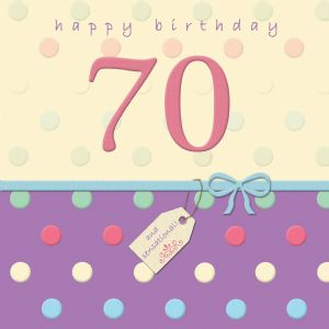 Happy Birthday Card With Swarovski Crystal - 70 - Dotty Days